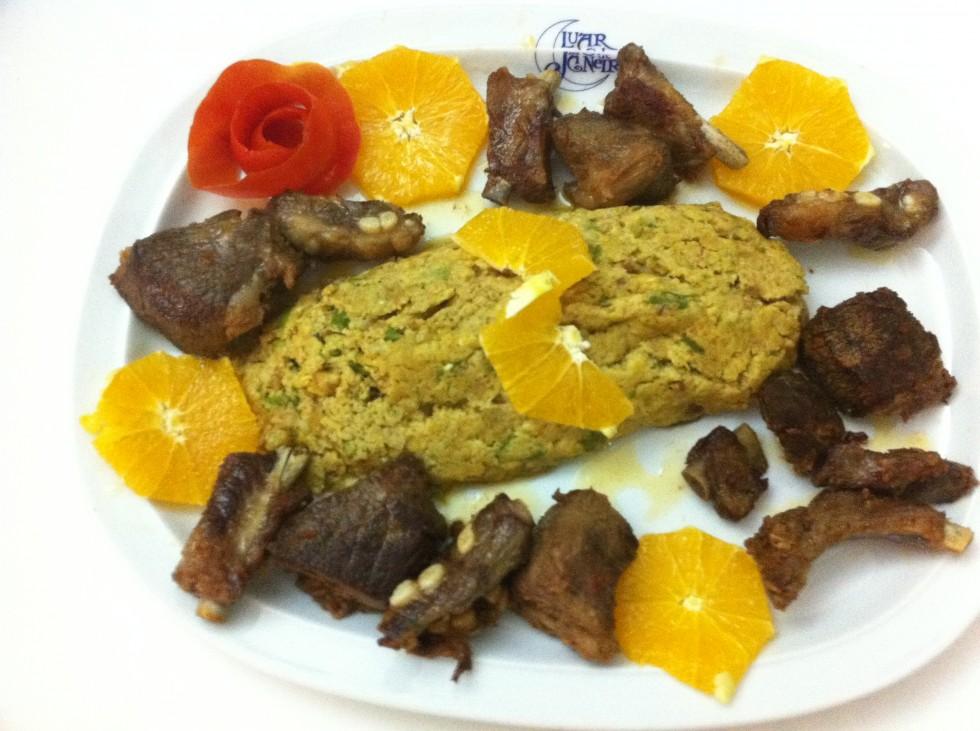 Migas de Espargos c/ Carne de Porco Preto